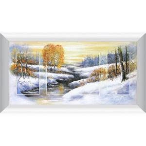 ヨハン・デ・ヨング『冬』複製画 【絵画 額付 新品 版画】