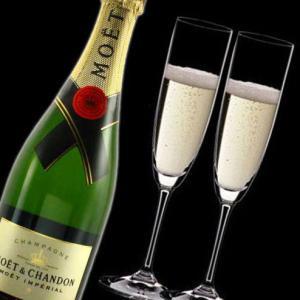 名入れ プレゼント 名前入り グラス RIEDEL リーデル ペアシャンパングラスセット(vinum)&モエ・エ・シャンドン アンペリアル|arttech21