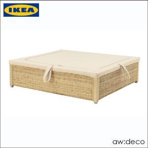 【商品情報】 IKEA/イケア 衣類収納ボックス 籐製 70cm 天然素材 収納ケース ROMSKO...