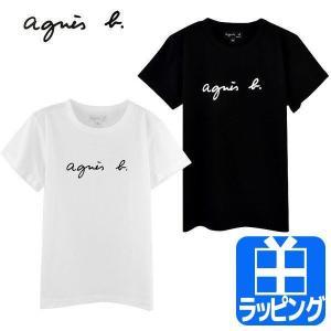 アニエスベー Tシャツ レディース ロゴ 新品 半袖 白 黒...