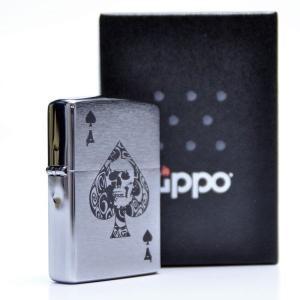 zippo ジッポーライター オリジナル 刻印 #200 スカル スペード  トランプ柄 スペード柄 エース パンク 髑髏 aruarumarket