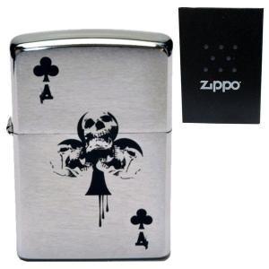 zippo ジッポーライター オリジナル 刻印 #200 スカル クローバー  トランプ柄 エース パンク ロック 髑髏 ドクロ 骸骨 aruarumarket