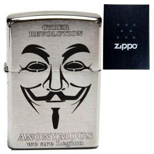 zippo ジッポーライター オリジナル 刻印 #200 アノニマス  デザイン ハッカー aruarumarket