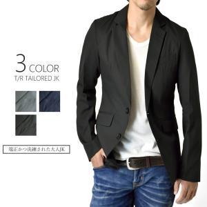 テーラードジャケット メンズ お洒落 細身 スリム 大きいサイズ スーツ M L LL 2L XL ...