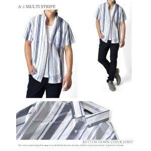 カジュアルシャツ メンズ 半袖 チェック柄 ブ...の詳細画像2