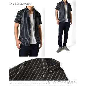 カジュアルシャツ メンズ 半袖 チェック柄 ブ...の詳細画像3