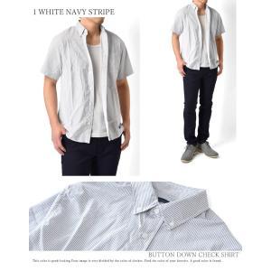 カジュアルシャツ メンズ 半袖 チェック柄 ブ...の詳細画像5