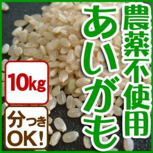新米 令和元年産 玄米(精米無)農薬不使用 白米 あいがも農法 お米10kg 当日精米|arumama