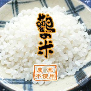 【令和2年産】玄米 2kg 白米 分つき米 農薬不使用 鸛の米 コシヒカリ コウノトリ育む農法 兵庫県産|arumama