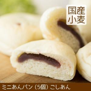 ミニあんぱん こしあん 5個 北海道産小麦|arumama