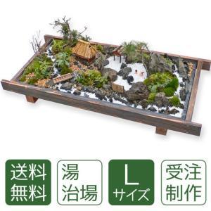 父の日 盆栽 送料無料 ミニ盆栽ミニ庭園 盆景【湯治場(L)】|arumama