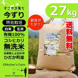令和元年産 無洗米 コシヒカリ 玄米 白米 27kg 今ずり米 兵庫県 但馬産 送料無料|arumama