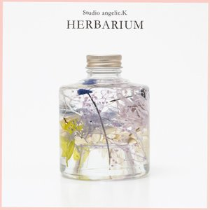 残暑お見舞い ハーバリウム プレゼント 花 ギフト スタッキング瓶 stk002|arumama