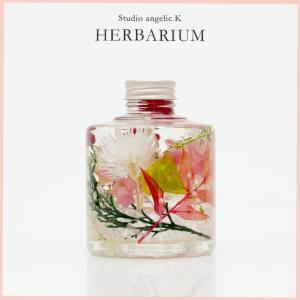 残暑お見舞い ハーバリウム プレゼント 花 ギフト スタッキング瓶 stk003|arumama