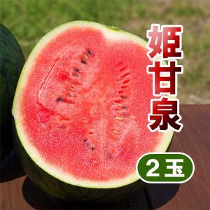 姫甘泉ブラック 2玉 小玉 スイカ 農薬不使用 黒い すいか 送料無料 arumama