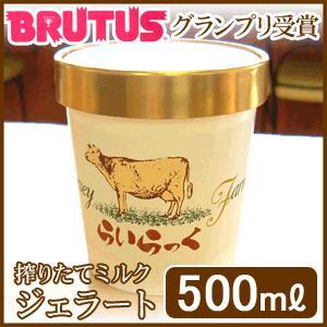 ジェラート アイスクリーム 産地直送ギフト 濃厚ミルク 手作り スイーツ アイスクリーム【お徳用 500ml】|arumama
