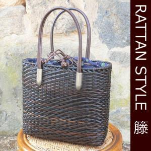 母の日 かごバッグ 皮籐バッグ 小判型(小)|arumama