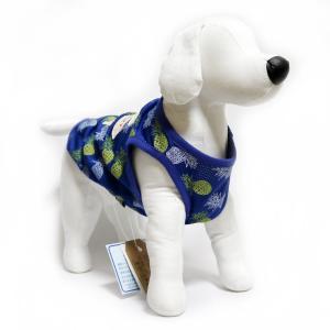 犬 服 パインメッシュクールタンク ブルー XXLサイズ 夏服 涼しい COOL パイナップル柄 DS121945|arumik-one