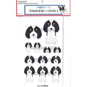 うちの子み〜つけたシール キャバリア トライカラー 【ネコポス可】|arumik-one