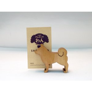 カード立て 020 柴犬 (パイン)立て挿し|arumik-one