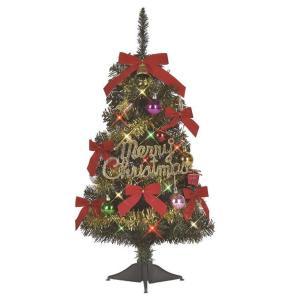 クリスマスツリー 60cm オーナメント付きファミリータイプ LED 卓上 60 セット|arune