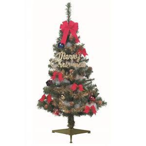 クリスマスツリー 120cm オーナメント付きファミリータイプ LED 卓上 120 セット|arune