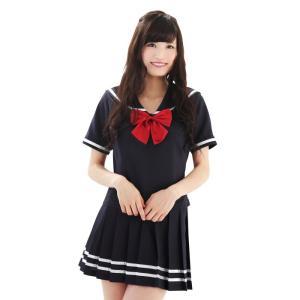 コスプレ コスチューム 衣装 セーラー服 純情ダブルラインセーラー服 Mサイズ|arune