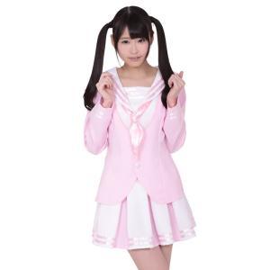コスプレ コスチューム 衣装 セーラー服 桜いちご学園中等部制服 Mサイズ|arune