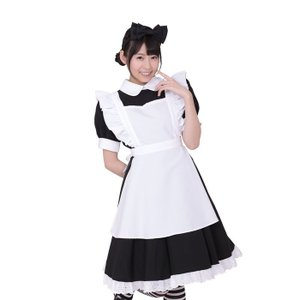コスプレ コスチューム 衣装 メイド リボンメイド・黒 Mサイズ|arune