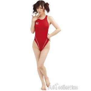 コスプレ コスチューム 薄々競泳水着(ホットレッド) Lサイズ スクール水着 女装男子|arune