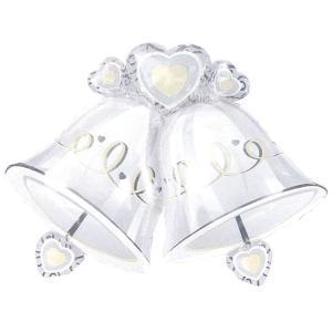 ヘリウムガス入り ウェディングベルズバルーンブーケセット ベル型ウェディングバルーン 風船 バルーン 記念日 結婚式 ギフト 景品 プレゼント|arune