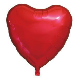 ギフトヘリウムガス入り メタリックレッドハート ハート型バルーン・風船 結婚式・お誕生日パーティーも最適|arune