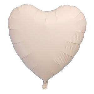 ギフトヘリウムガス入り メタリックホワイトハート ハート型バルーン・風船 結婚式・お誕生日パーティーも最適|arune