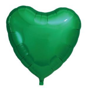 ギフトヘリウムガス入り メタリックグリーンハート ハート型バルーン・風船 結婚式・お誕生日パーティーも最適|arune