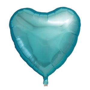 ギフトヘリウムガス入り メタリックライトブルーハート ハート型バルーン・風船 結婚式・お誕生日パーティーも最適|arune