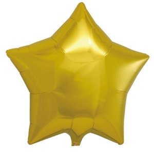 ヘリウムガス入り メタリックゴールドスター スター型バルーン・風船 結婚式・お誕生日パーティーも最適|arune