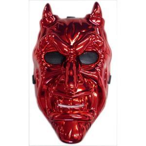 節分 鬼 衣装 メタリックマスク 赤鬼 節分 飾り 豆 コスプレ 鬼 衣装 お面 玄関|arune