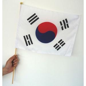 世界の国旗ポール付き 韓国・大韓民国[サッカー 日本 サポーター 応援グッズ]|arune