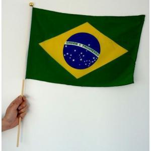 世界の国旗ポール付き ブラジル[サッカー 日本 サポーター 応援グッズ]|arune
