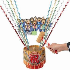 祝樽クラッカー パーティーグッズ・盛り上げグッズ・宴会グッズ・パーティークラッカー・祝砲・お祝い・鏡割り|arune