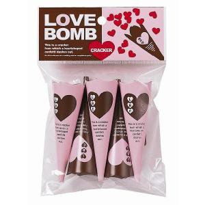 LOVE BOMB(ラブ ボム)クラッカー 5個入り パーティーグッズ・鳴り物・パーティークラッカー|arune