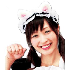 萌えもえカチューシャ 白猫 仮装・帽子・かぶりもの・動物・アニマルカチューシャ|arune