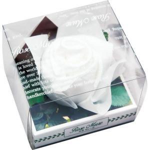 ロゼミュール タオルチーフのバラの花 1輪 ホワイト|arune