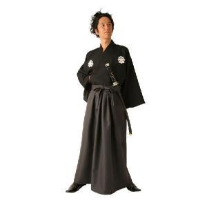 2010年の大河ドラマに対応した坂本竜馬風着物コスチューム。家紋プリントがポイントです!【セット内容...