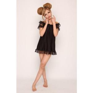 ギフトBaby Doll & Shorts NEWバニラクリーム(ブラック) ベビードール|arune