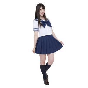 カラーセーラー 紺M 仮装 衣装 コスプレ コスチューム アイドル 女性用|arune