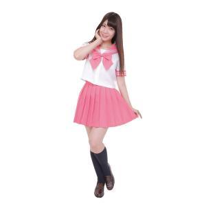 カラーセーラー ピンク4L 仮装 衣装 コスプレ コスチューム アイドル 女装 男性用 女装男子|arune