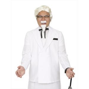 カーネルサンダース パーティーグッズ 仮装衣装 コスチューム ケンタッキーコスプレ 白ひげおじさん|arune