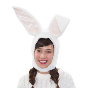 イースター パステルバニーかぶりもの ホワイト 仮装 コスチューム コスプレ イースターエッグ|arune
