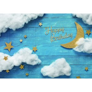 イエスタ Happy Birthday ナイトスカイ インスタ映え 写真館 パーティーグッズ 記念写真 背景 誕生日 スタジオ|arune|02